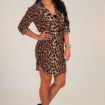 A Roaring Time Tunic: Leopard
