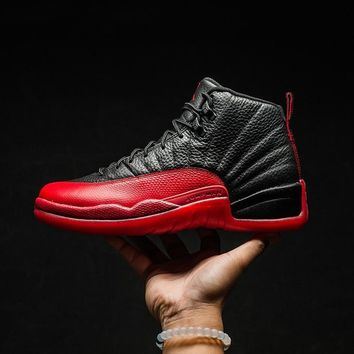 """Ready Stock"" NIKE AIR JORDAN 12 RETRO BG AJ12 black female basketball shoes 153265-002 ill"