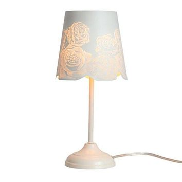 "15"" Bed Side Table Lamp Desk Lamp With Lamp Shade"