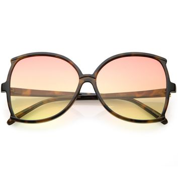 Women's Retro 1950's Fashion Butterfly Gradient Lens Sunglasses C229