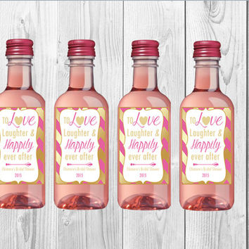 Mini Wine Bottle Labels/Party Favors/Wine Favors/187ml/Custom/Party/Printables/Digital
