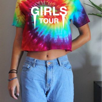 Girls tour Tie Dye T shirt or Cropped T-Shirt By Cake Life®
