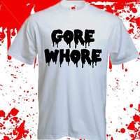 GORE WHORE t-shirt/crop top grunge goth