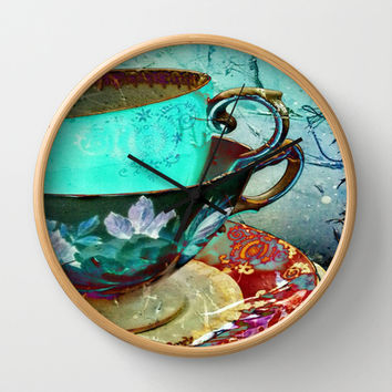 Madhatter's Teaparty No.30 Wall Clock by AlyZen Moonshadow
