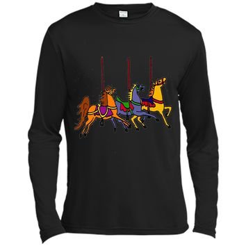 Smiletodaytees Fun Carousel Horses Art T-shirt