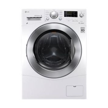 LG Electronics 2.3 cu. ft. Washer and Electric Ventless Dryer in White-WM3477HW - The Home Depot