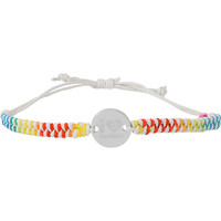 Keep A Breast Foundation White & Rainbow Braided Bracelet at Zumiez : PDP