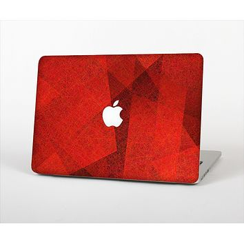 The Dark Red with Translucent Shapes Skin Set for the Apple MacBook Pro 13""