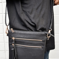 Jet Set Crossbody Bag Black