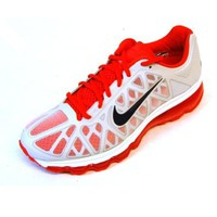 Womens Nike Air Max+ 2011 Running Shoes Summit White / Anthracite / Crimson Red 429890-106