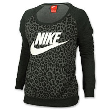 Women's Nike Rally Cheetah Crew Sweatshirt