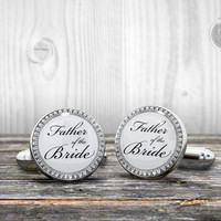 Wedding Cufflinks - FATHER of the BRIDE - Very elegant cuff links