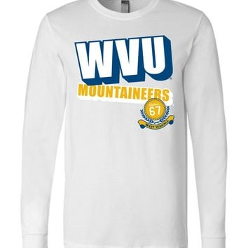 Official NCAA West Virginia University Mountaineers Hail WVU 1867 Long Sleeve T-Shirt - GG03wv