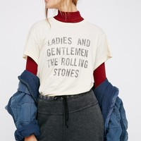 Free People Rolling Stones Rock Tee