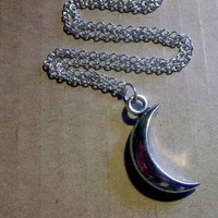 Crescent Moon Necklace by trophies on Etsy
