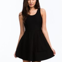 Textured Panel Fit N Flare Dress