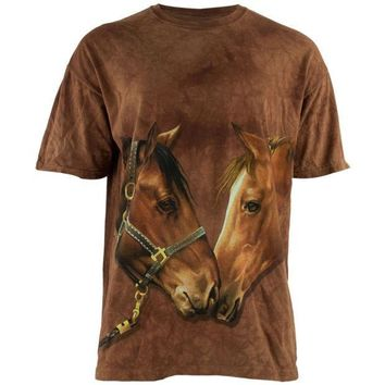 ICIKIS3 Howdy Horse Tie Dye Adult T-Shirt