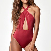 LA Hearts Halter One Piece Swimsuit at PacSun.com