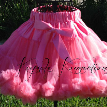 Cotton Candy Pink Pettiskirt - Tutu - Petticoat - baby tutu- Skirt - Kids - Pettiskirt - cotton candy pink petti skirt - Photo Prop
