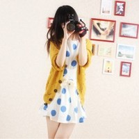 New Arrival Autumn Style Long Puff Sleeve Knitted Sweater China Wholesale - Sammydress.com
