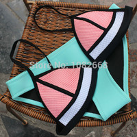 Triangl Neoprene Bikini Set  Push Up Swimwear Padded Triangle