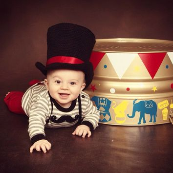 Mad Hatters - Photo Prop - Hat - Steampunk - Newborn Photo Prop - Mad Hatter - Top Hat - Mad Hatter Hat - Abraham Lincoln Hat - Circus Hat
