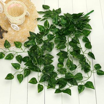 Plant Wall Leaves Perfect Garden Green Garland Decoration Home 1Pcs Fake Artificial Vine Present Hanging
