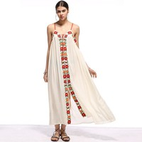 Embroidered Womens Maxi