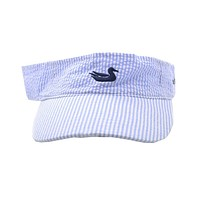 Limited Edition Blue Seersucker Visor with Navy Duck by Southern Marsh