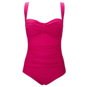 Push Up Balconette  Slimming One Piece
