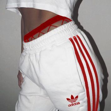Adidas Fashion Women MenLoose Exercise Sport Pants Trousers Boy Girl Sweatpants