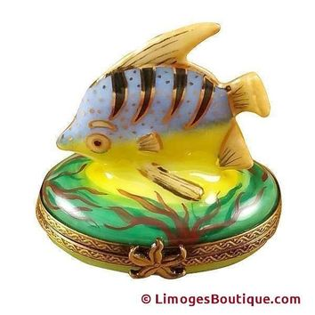 BLUE FISH LIMOGES BOX