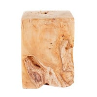 Natural Teak Wood End Table - Moe's Home Collection