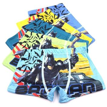 Batman Dark Knight gift Christmas 5pcs/Set 2-10Year Microfiber Cartoon Batman Boys Boxers Soft Shorts Child Underwear For Boy Boxer Briefs Kids Children Panties AT_71_6