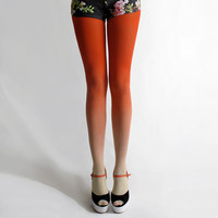 BZR Ombré tights in Sunset by BZRshop on Etsy