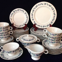 "Great Grapes! Theodore Haviland ""Arbor"" Tea Set Gift for 10 - Charming Wedding/Engagement/Shower/Birthday/Housewarming Gift"