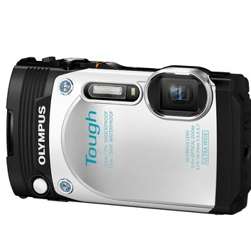 Olympus TG-870 Tough Waterproof Digital Camera (White)