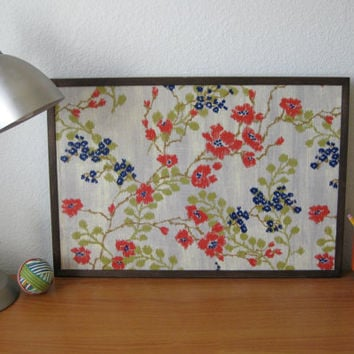 Floral Print Fabric Cork Board by TerraCasa on Etsy