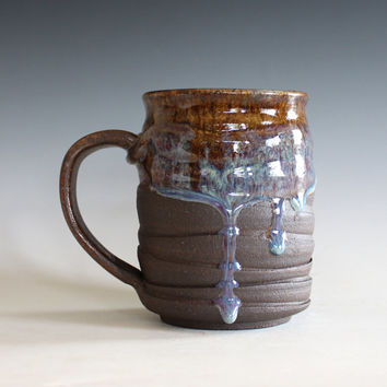 Pottery Coffee Mug, 17 oz, unique coffee mug, handmade ceramic cup, handthrown mug, stoneware mug, wheel thrown pottery mug, ceramics