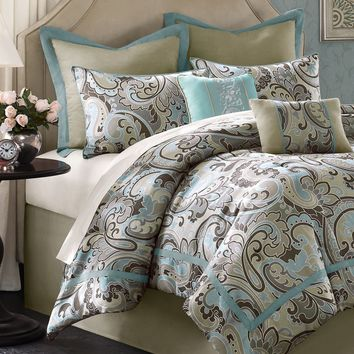 Kensington 8 Piece Comforter Set - Bed in a Bag - Bed & Bath - Macy's