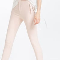 MID-RISE SKINNY TROUSERS