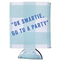 OK Smartie, Go to a Party Can Holder in Aqua Gingham by Southern Proper