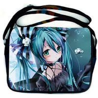 New Anime Vocaloid Hatsune Miku girl student Book Schoolbag Messenger shoulder Bag Gift [8081691783]