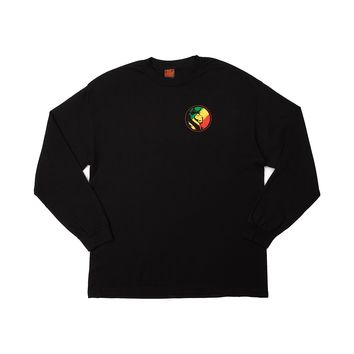 Mens OG ABEL Lion Rasta Long Sleeve Tee