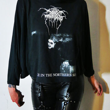 Darkthrone Cowl Neck Shawl Top