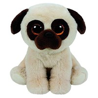 "Pyoopeo Ty Beanie Boos 6"" 15cm Rufus the Pug Dog Plush Stuffed Doll Toy Collectible Big Eyes Puppy Dolls Toys"