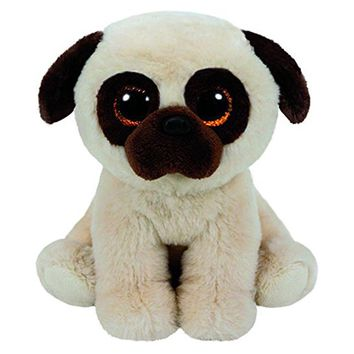 """Pyoopeo Ty Beanie Boos 6"""" 15cm Rufus the Pug Dog Plush Stuffed Doll Toy Collectible Big Eyes Puppy Dolls Toys"""