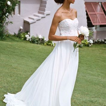 Buy Chiffon A-line with Sweetheart Beaded Lace Bodice Style WG9830  for $133.23 only in Fashionwithme.com.