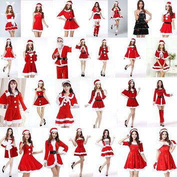 Christmas clothes adult girls rabbit girls sexy cos Princess Santa Claus winter clothes DS performance clothes