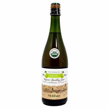 Val de France Organic Sparkling Apple Pear Juice, 25.4 oz